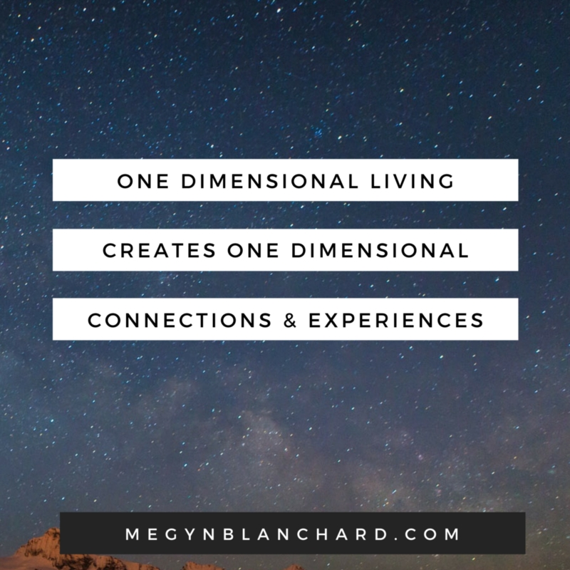 One dimensional living