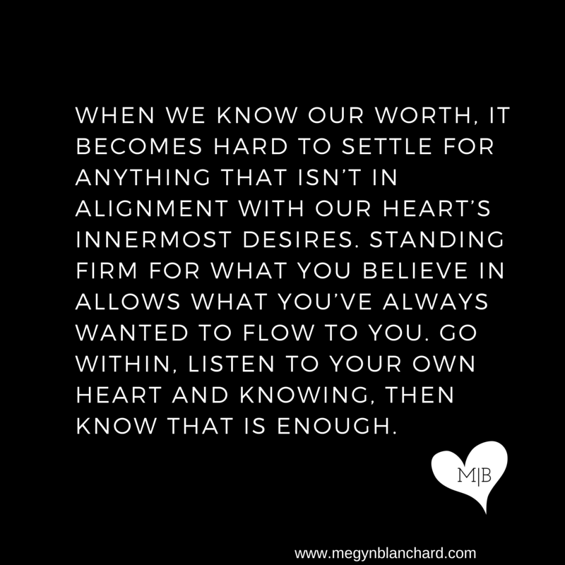 When we know our worth, it becomes hard