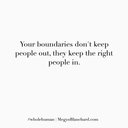 Your boundaries - Have healthy standards and boundaries in live