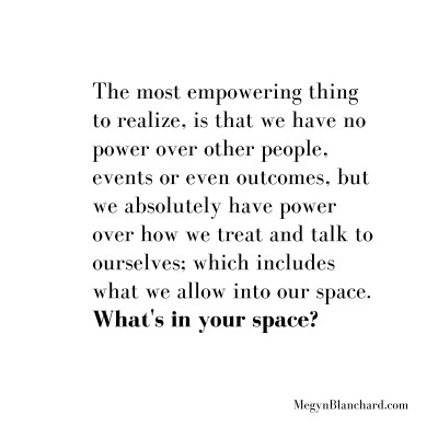 the most empowering thing to realize is that you have no power over other people.