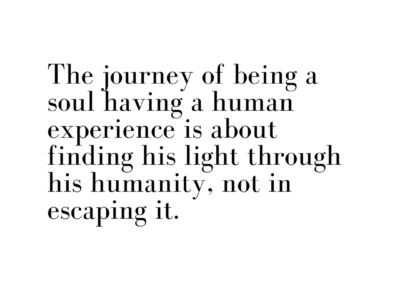 The journey of being a soul